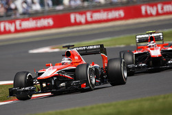 Jules Bianchi Marussia F1 Team MR02 leads team mate Max Chilton Marussia F1 Team MR02