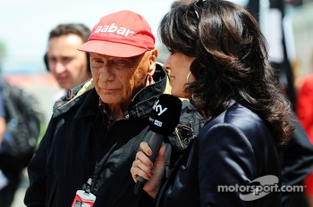 Niki Lauda Mercedes Non-Executive Chairman on the grid