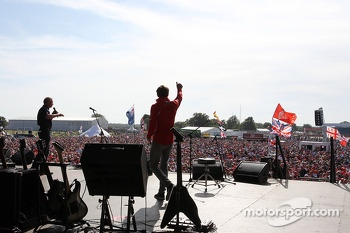 Max Chilton Marussia F1 Team at the post race concert
