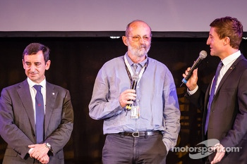 ACO President François Fillon, Henri Pescarolo and MC Bruno Vandestick