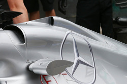 Mercedes AMG F1 W04 passive DRS detail