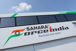 Sahara Force India F1 Team logo on a team truck