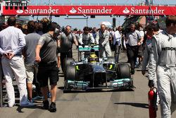 Lewis Hamilton, Mercedes AMG F1 W04 on the grid