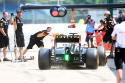 Nicolas Prost, Lotus F1 E21 Test Driver with green car light
