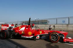 Davide Rigon, Ferrari F2012 Test Driver leaves the pits