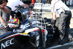 Robin Frijns, Sauber C32 Test and Reserve Driver running sensor equipment