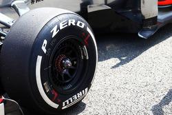 Pirelli tyre on the McLaren MP4-28