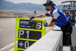 #6 Cameron Beaubier pit board reads P1