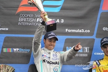 International podium: winner Jazeman Jaafar