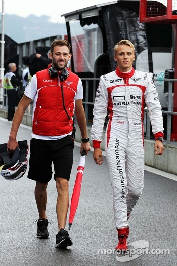 Max Chilton, Marussia F1 Team with Sam Village, Marussia F1 Team