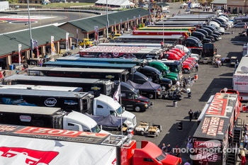 Transponders getting ready to leave Sonoma Raceway