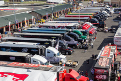 Transporters getting ready to leave Sonoma Raceway