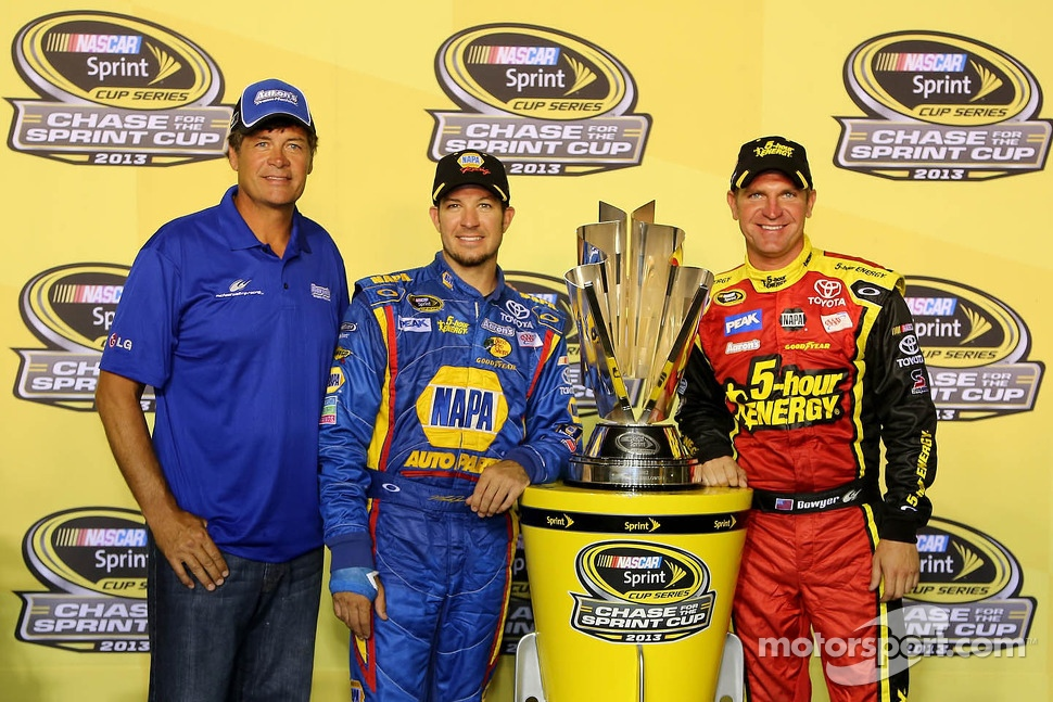 Michael Waltrip, Clint Bowyer and Martin Truex Jr.