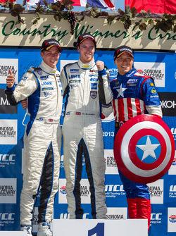 Race 1 Independent class podium: 1st place Alex MacDowall, 2nd place James Nash, 3rd place Stefano D'Aste