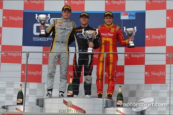 Race winner Sam Bird, second place Marcus Ericsson, third place Fabio Leimer