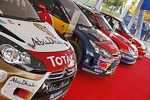 The various Citroën rally cars used by Sébastien Loeb