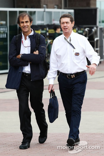 (L to R): Emanuele Pirro, FIA Steward with Gary Connely, FIA Steward and CAMS