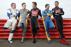 Title contenders Andrew Jordan, Jason Plato, Matt Neal, Gordon Shedden and Colin Turkington