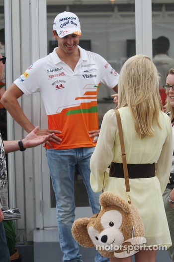 Adrian Sutil, Sahara Force India F1 with his girlfriend Jennifer Becks