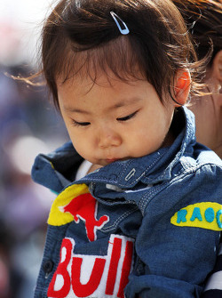 A young Red Bull Racing fan