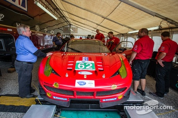 #62 Risi Competizione Ferrari F458 Italia at technical inspection