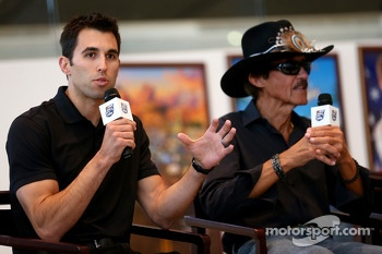 Aric Almirola and Richard Petty