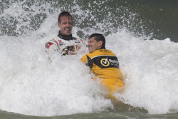 Drivers have fun in the sun and surf