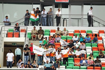 Sahara Force India F1 Team fans in the grandstand