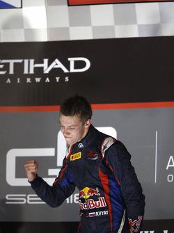 Race winner and 2013 champion Daniil Kvyat