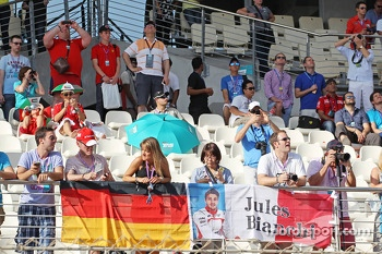 Banner for Jules Bianchi, Marussia F1 Team in the grandstand