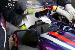 Red Bull Racing RB9 of Mark Webber, Red Bull Racing on the grid