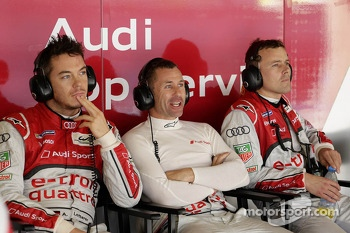 Andre Lotterer, Tom Kristensen and Marcel Fässler
