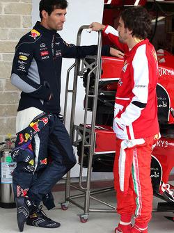 Mark Webber, Red Bull Racing and Fernando Alonso, Scuderia Ferrari