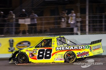 Matt Crafton with damage