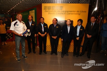 Franz Engstler, BMW E90 320 TC, Liqui Moly Team is donating his overall for the Museum of Macau GP at the presence of Jean Todt, Fia President and Joao Manuel Costa Antunes,  The Coordinator of Macau Grand Prix Committee, and all the manager od the Macau