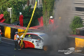 Michael Soong, Seat Leon WTCC, Campos Racing crash