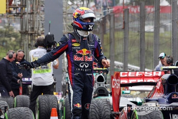 Mark Webber, Red Bull Racing in parc ferme
