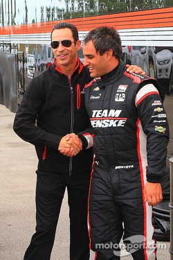 Helio Castroneves and Juan Pablo Montoya
