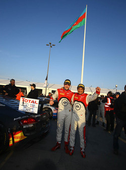 Race winners and championship winners Stéphane Ortelli, Laurens Vanthoor