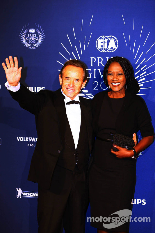 Jacky Ickx, with his wife Khadja Nin