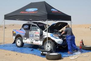 Ford Ranger testing in Namibia