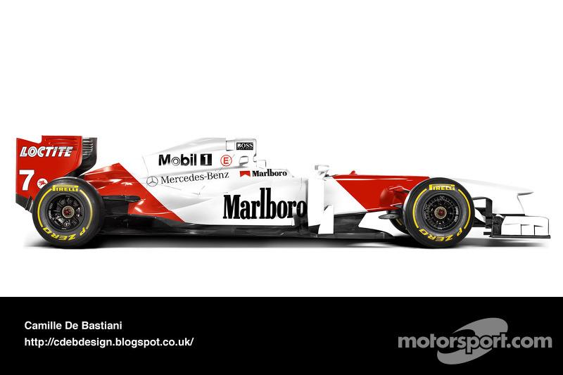 Formel-1-Auto im Retrodesign: McLaren 1996