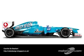Retro F1 car - Benetton 2001