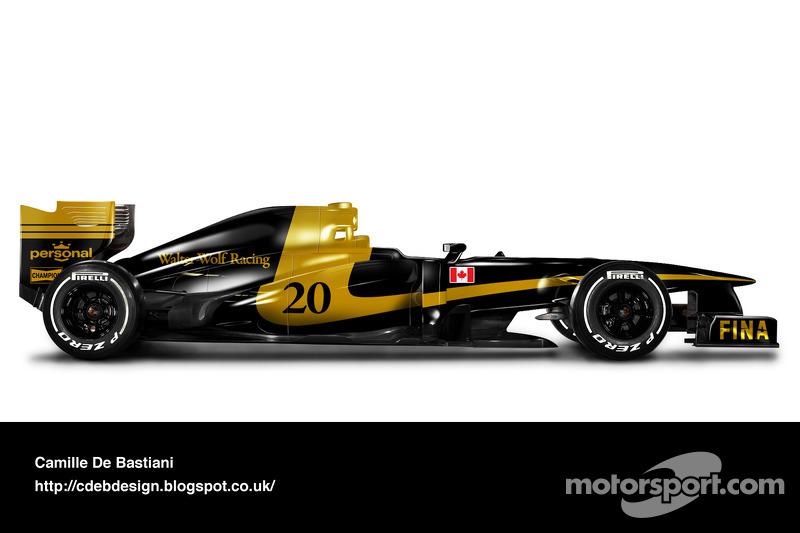 Formel-1-Auto im Retrodesign: Wolf 1977