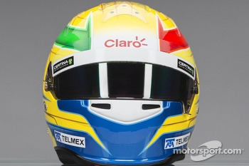 The helmet of Esteban Gutierrez, Sauber F1 Team