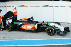 Nico Hulkenberg and Sergio Perez unveil the Sahara Force India F1 VJM07