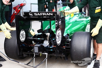 Marcus Ericsson, Caterham CT04 - rear wing and rear diffuser detail