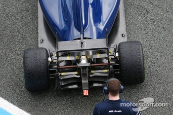 Williams FW36 rear wing and rear diffuser detail