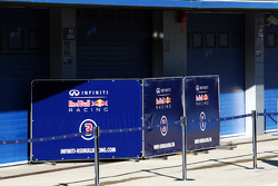 Garage doors down and covers up at Red Bull Racing