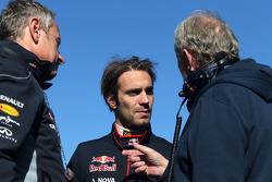 Jean-Eric Vergne, Scuderia Toro Rosso  and Dr Helmut Marko, Red Bull Motorsport Consultant